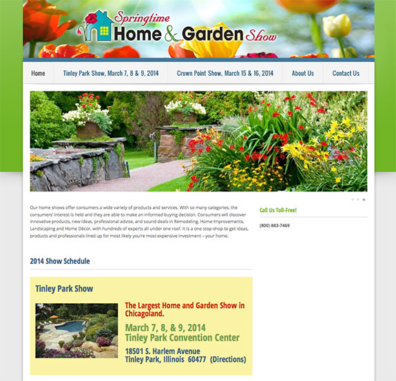 home show website design