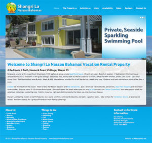 vacation property website setup